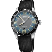 Oris Men's Divers Sixty-Five 40mm Watch with Black Rubber Strap 73377074065RS