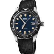Oris Men's Divers Sixty-Five 42mm Watch with Black Rubber Strap 73377204055RS