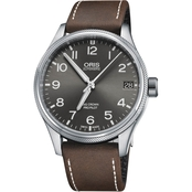 Oris Men's ProPilot Date Watch with Leather Strap 75176974063LS