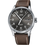 Oris Men's ProPilot Day Date Watch with Leather Strap 75276984063LS