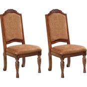 Signature Design by Ashley North Shore Upholstered Back Side Chair, 2 pk.