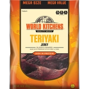 World Kitchens Teriyaki Sliced and Shaped Beef & Pork Jerky 10 Oz.