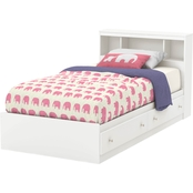 South Shore Litchi Twin Bed