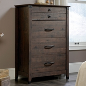 Sauder Carson Forge 4 Drawer Chest, Coffee Oak Finish