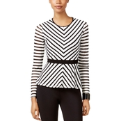 Thalia Sodi Striped Peplum Top