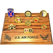 MI Engraving Air Force 9 x 12 Coin Holder