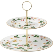 Wedgwood Wild Strawberry Two Tier Cake Stand