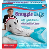 Snuggie Tails Gray Shark Blanket