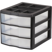 Sterilite Medium 3 Drawer Desktop Unit