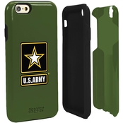 Guard Dog US Army Logo Hybrid Case for iPhone 6 with Guard Glass, Green/Black