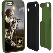 Guard Dog US Army Full Print Hybrid Case for iPhone 6 with Guard Glass Green/Black
