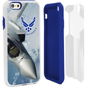 Guard Dog US Air Force Full Print Hybrid Case for iPhone6 & Guard Glass White/Blue