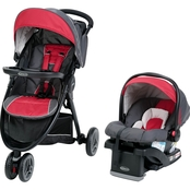 Graco FastAction Fold Sport LX Click Connect Travel System, Chili Red