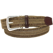 Torino Woven Rayon Over Leather Belt