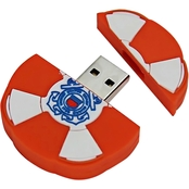 Flashscot US Coast Guard Lifebuoy Logo Shape USB Drive 8GB