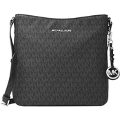 Michael Kors Jet Set Travel Large Messenger Handbag, Silvertone