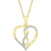 10K Yellow Gold 1/10 CTW Diamond Heart Pendant