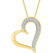 10K Yellow Gold 1/20 CTW Diamond Heart Pendant