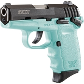 SCCY CPX-1 9MM 3.1 in. Barrel 10 Rds 2-Mags Pistol Black with SCCY Blue Frame