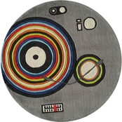Momeni Lil Mo Stereo 5 ft. Round Rug