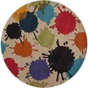 Lil Mo Hipster Paint Ball 5 ft. Round Rug