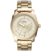 Fossil Men's Machine Three Hand Date Goldtone Stainless Steel Watch FS5264