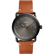 Fossil Men's The Commuter Three Hand Date Luggage Leather Watch FS5276