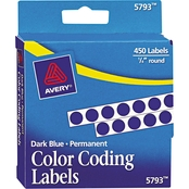 Avery Permanent Self-Adhesive Round Color-Coding Labels 450 Pk.