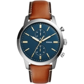Fossil Men's Townsman 44mm Chronograph Luggage Leather Watch FS5279