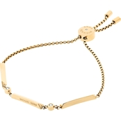 Michael Kors Knife Edge Goldtone and Crystal Slider Bracelet