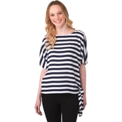 Michael Kors Petite Graphic Stripe Tie Top