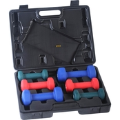 Sunny Health and Fitness Neoprene Dumbbell Set With Case
