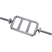 Sunny Health and Fitness 24 in. Threaded Solid Chrome Tricep Bar