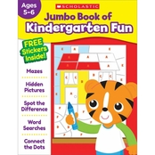 Jumbo Book of Kindergarten Fun Workbook (Hardcover)