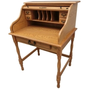 Chelsea Home 32 in. Mini Roll Top Desk