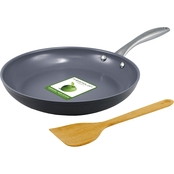 Greenpan Lima Collection 10 in. Open Frypan with Bamboo Spatula