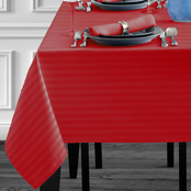 Benson Mills Rosedale 70 in. Round Spillproof Tablecloth