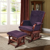 Artiva USA Glider Rocker with Ottoman