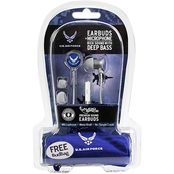 AudioSpice U.S. Air Force Scorch Earbuds With Mic and Camo BudBag