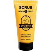 Bee Bald Scrub Exfoliating Pre-Shave 3 Oz.