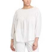 Lauren Ralph Lauren Plus Size Quarida Off-Shoulder Top