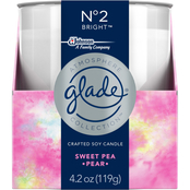Glade Atmosphere Crafted Soy Candle Air Freshener, Sweet Pea and Pear