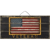 Highland Veteran Flag Slat Sign