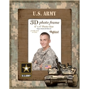 Highland 4x6 3D Photo Vertical Frame Army