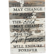 Uniformed Endure Forever 12 x 18 in. Reclaimed Wood Sign
