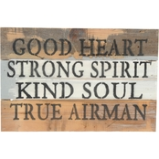Uniformed True Airman 12 x 8 in. Reclaimed Wood Sign