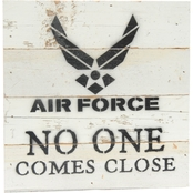 Uniformed No One Comes Close 8 x 8 in. Reclaimed Wood Sign