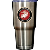 Uniformed 30 oz. Double Wall Stainless Steel Tumbler with U.S. Marine Corps Logo