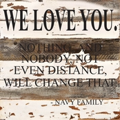 Uniformed We Love You 12 x 12 in. Reclaimed Wood Sign