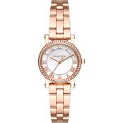 5c89d4ce297a Michael Kors Women s Petite Norie Rose Goldtone 3 Hand Watch MK3558